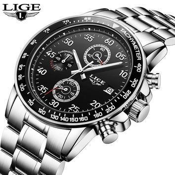 LIGE Men's Luxury Brand Quartz Watches
