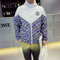 Outdoors Patchwork Coat Jacket Rashguard [6581656007]