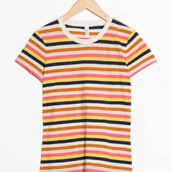 Striped Ringer Tee - Multi Stripe - Striped T-shirts - & Other Stories GB