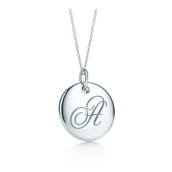 Tiffany & Co. - Tiffany Notes Alphabet disc charm pendant