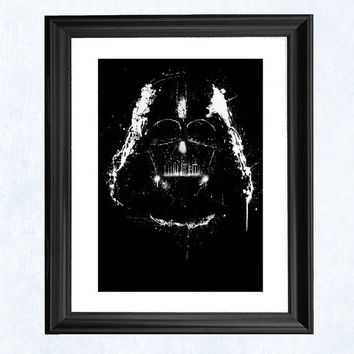 Darth Vader Star Wars print by purplecactusdesign on Etsy
