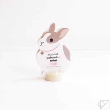 2018 Rabbit Mini Desk Calendar