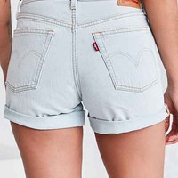 Levis 501 Long Short - Pale Blue - Urban Outfitters
