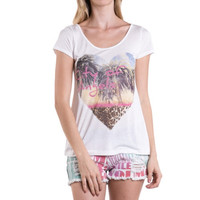 (amx) City of Angels heart graphic retro tee