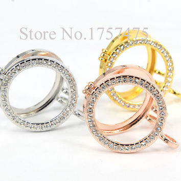 Silver (6 pieces/lot) New Arrival Alloy Crystal Frame Pendant My Coin Holder fit 33mm Coins for Women Jewelry