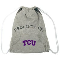 NCAA TCU Horned Frogs Hoodie Cinch Backpack, 14 x 17-Inch, Gray