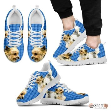 Customized Dog Print (Black/White) Running Shoes For Men By Shanan Roth-Free Shipping