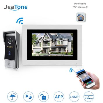 7 inch WIFI IP Video Door Phone Intercom Wireless Door Bell Door Speaker Access Control System Touch Screen Motion Detection