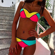 Latest Women Fashion Sexy Colorful 2 Piece Bikini Swimsuits