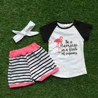 Be A Flamingo in a Flock of Pigeons Short Set