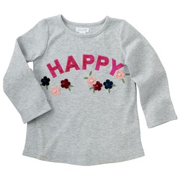 Happy Floral Embroidered Top