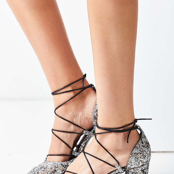 Intentionally Blank Hatter Glitter Heel - Urban Outfitters