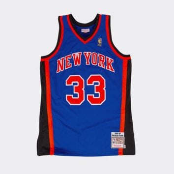 ONETOW NBA Mitchell & Ness Patrick Ewing New York Knicks 1996-1997 Throwback Authentic Jersey