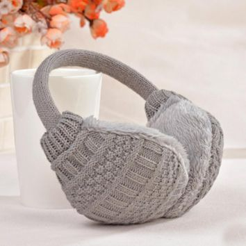 SuperB&G 2018 New Style Winter Muffs Earmuffs Winter  Cover Plush Warm Ear  Knitted Earmuffs  For Women Winter  Warmers Unisex