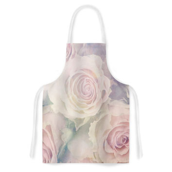 "Suzanne Carter ""Faded Beauty"" Blush Floral Artistic Apron"