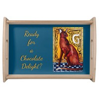 Ready for a Chocolate Delight? Havana Cat Serving Tray