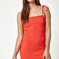 Kendall & Kylie Tie Strap Smocked Bodycon Dress at PacSun.com