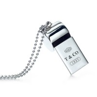 Tiffany & Co. -  Tiffany 1837™ whistle in sterling silver on a beaded chain.