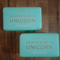 Castelbel Set of 2 Cotton Breeze Scented Bar Soaps 10.5 oz ALWAYS BE A UNICORN