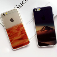 Desert  Mountain Case Cover for iPhone 6 6s Plus Gift 230