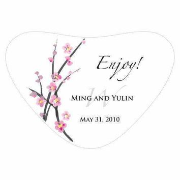 Cherry Blossom Heart Container Sticker (Pack of 1)