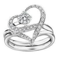 Korean Imported Crystals Wedding Ring