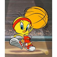 Tweety Basketball - Limited Edition Sericel by Warner Bros. with a Full Color Lithograph Background