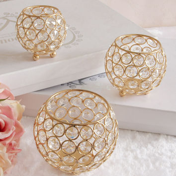 Gold Votive Candle Holders For Tabletop or Centerpieces