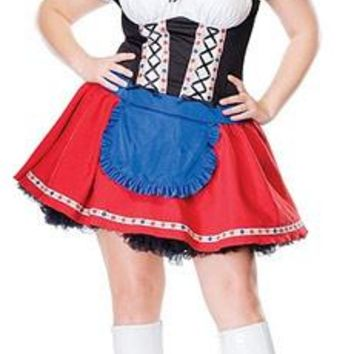 French Maid Women Sexy Costumes Mini Fancy Dress Sexy Beer Girl Oktoberfest Costume Cosplay Size S M L XL