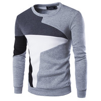 New Autumn Fashion Brand Casual Sweater O-Neck Patchwork Slim Fit Knitting Mens Sweaters And Pullovers Men Pullover 9238