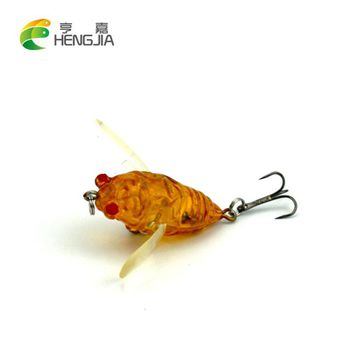 Cicada 6.4g 4cm Perch Insect Bait Fishing Lure Treble Barb Hook Fishing Tackle Artificial floating Bait Fishing accessories