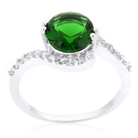Swirling Emerald Green Ring
