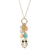 Rhinestone Owl Charm Necklace | Shop Accessories at Wet Seal