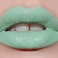 Lime Crime Opaque Mint Green Lipstick Mint To Be