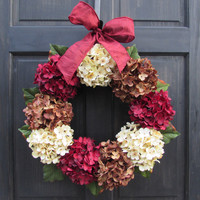 Summer & Autumn Hydrangea Wreath
