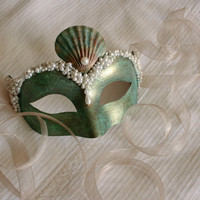 Mermaid Majesty Venetian Masquerade mask