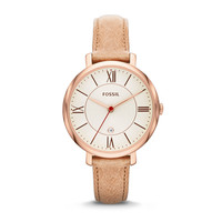 Jacqueline Three-Hand Leather Watch - Camel