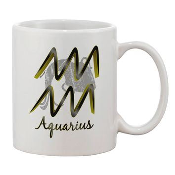 Aquarius Symbol Printed 11oz Coffee Mug