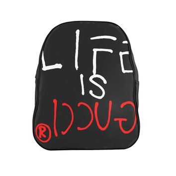 LIFE IS GUCCIⓇ School Backpack