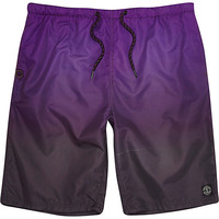 River Island MensPurple dip dye long swim trunks