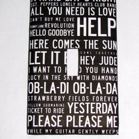 Light Switch Cover - Light Switch Plate  The Beatles Songs