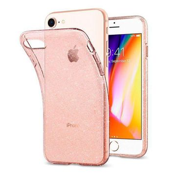 Spigen Liquid Crystal [2nd Generation] Iphone 8 Case / Iphone 7 Case With Slim Protection And Premium Clarity For Apple Iphone 8 (2017) / Iphone 7 (2016) Glitter Rose Quartz