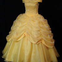 Adult  Beauty and the Beast Yellow Gown by NeverbugCreations