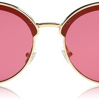 Fashion Designer Cateye Women Sunglasses Oversized Flat Mirror Lens SJ1055