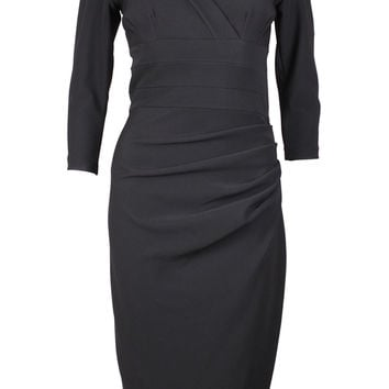 Jemima Black Fitted Dress