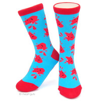 Heart You - Heart Socks - Red and Blue