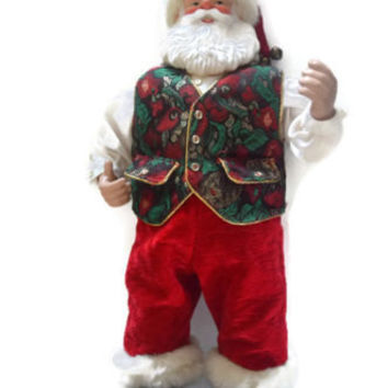 Rock Santa Brenda Lee Christmas Tree Musical Dance Sing AC adapter with Box Christmas Decoration Dancing Santa Claus
