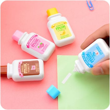 Creative Milk Bottle Correction Tape Correction Fluid School And Office Supply Stationery