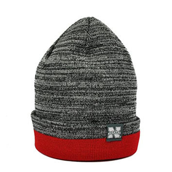 Nebraska Cornhuskers Top Of The World Red & Gray Quasi Cuffed Knit Hat (Adult One Size)
