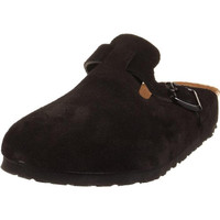 Birkenstock Womens Boston Suede Slide Clogs